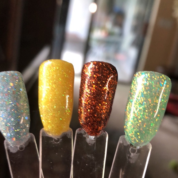 Accessories | Set Of 4 15gram Solvent Resistant Nail Glitter | Poshmark